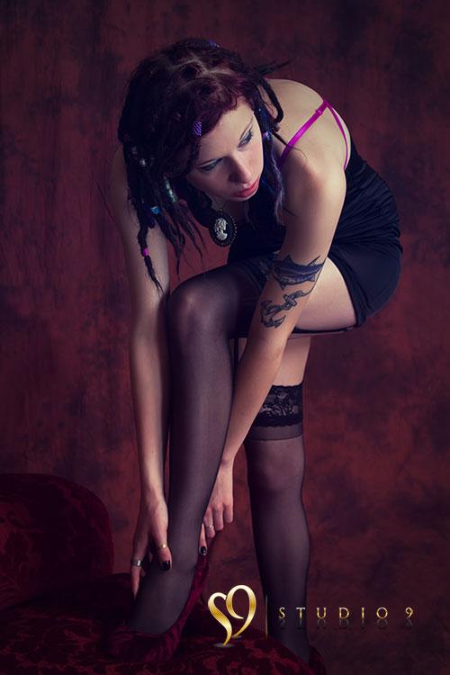Studio boudoir portrait
