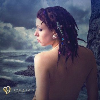 Boudoir image with fantasy editing