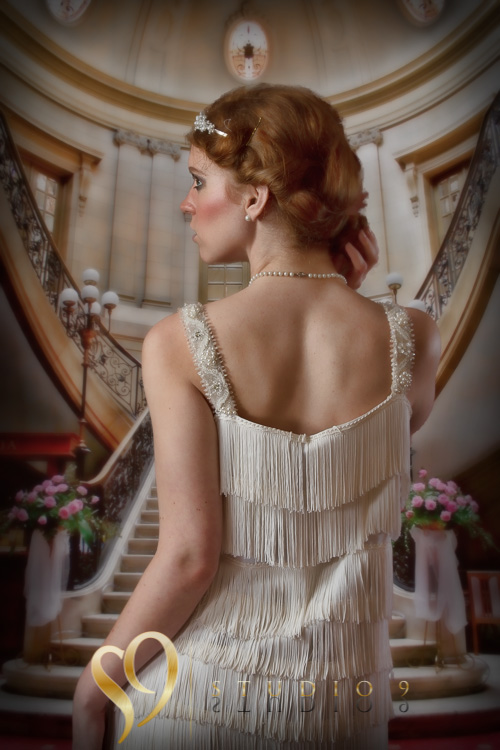 Vintage glamour themed portrait with Eileen.