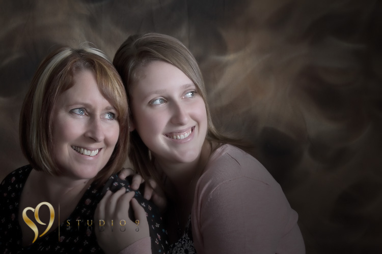 Mother and daughter glamour photography.