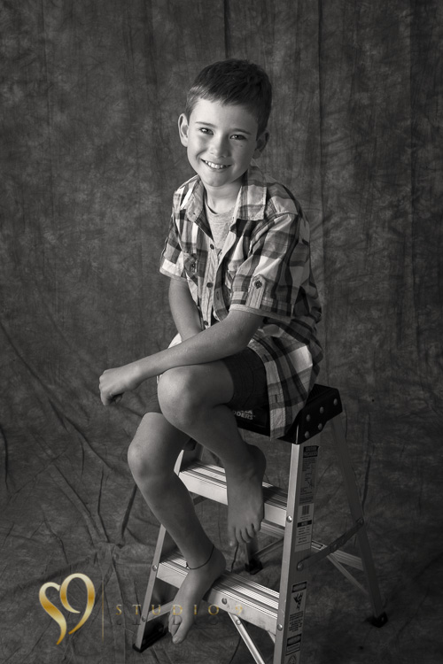 Portrait of boy at Studio9 of Wellington.