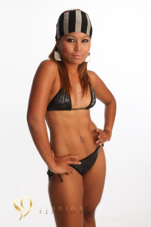 Bikini model photo shoot at studio9.