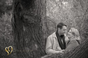 Engagement photography in a Wellington park.