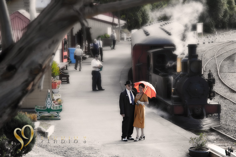 Art Deco photos at Silverstream train station.