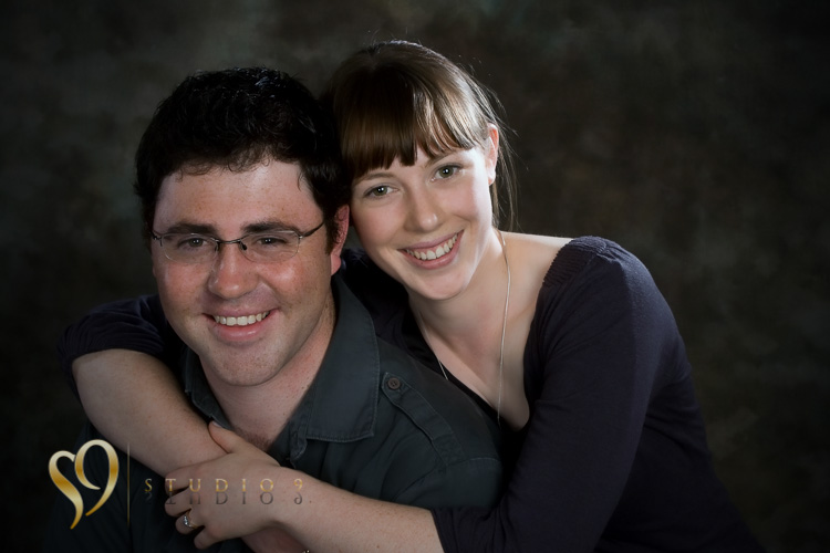 Engagement photo shoot in the studio.