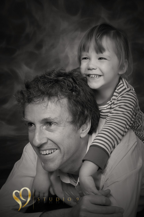 Portraits with Dad and his boy at Wellington studio.