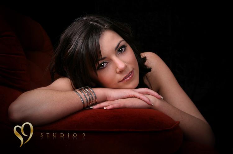 Beautiful closeup boudoir portrait