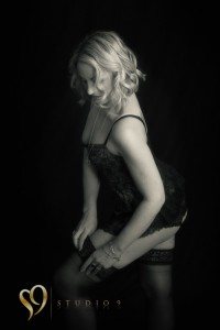 Boudoir portrait photoshoot at studio9.