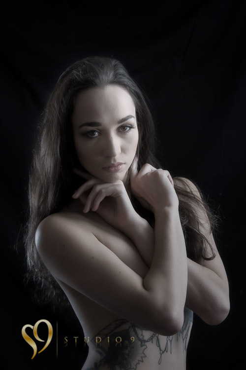 Nude studio portraits with June.